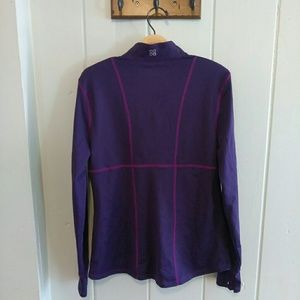 Actra 1/2 zip purple long sleeve with thumb holes